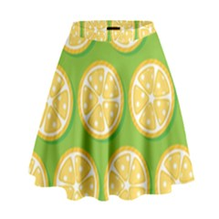 Lime Orange Yellow Green Fruit High Waist Skirt by Mariart
