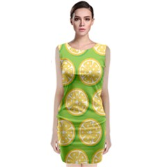 Lime Orange Yellow Green Fruit Sleeveless Velvet Midi Dress by Mariart