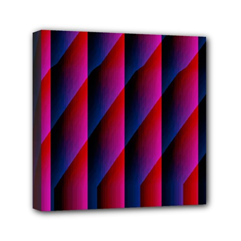 Photography Illustrations Line Wave Chevron Red Blue Vertical Light Mini Canvas 6  X 6