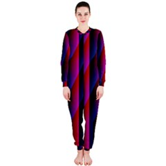 Photography Illustrations Line Wave Chevron Red Blue Vertical Light Onepiece Jumpsuit (ladies)  by Mariart