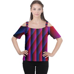 Photography Illustrations Line Wave Chevron Red Blue Vertical Light Women s Cutout Shoulder Tee by Mariart