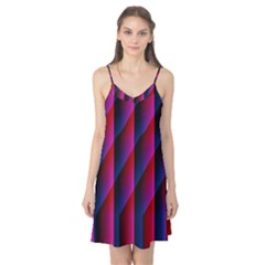 Photography Illustrations Line Wave Chevron Red Blue Vertical Light Camis Nightgown