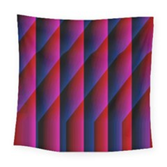 Photography Illustrations Line Wave Chevron Red Blue Vertical Light Square Tapestry (large) by Mariart