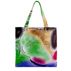 Mirror Light Zipper Grocery Tote Bag by Mariart