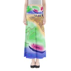 Mirror Light Maxi Skirts by Mariart