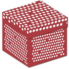 Pink White Polka Dots Storage Stool 12   by Mariart