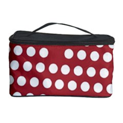Pink White Polka Dots Cosmetic Storage Case by Mariart