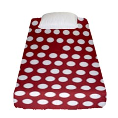 Pink White Polka Dots Fitted Sheet (single Size) by Mariart