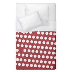 Pink White Polka Dots Duvet Cover (single Size) by Mariart