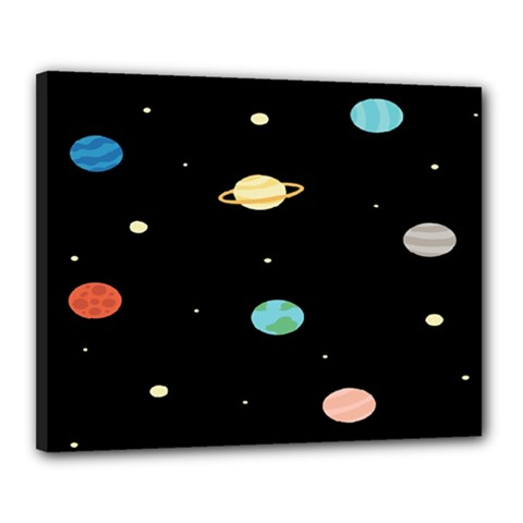 Planets Space Canvas 20  X 16  by Mariart