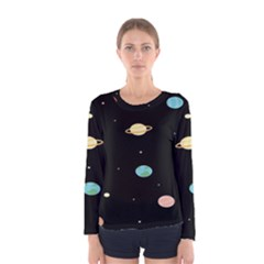 Planets Space Women s Long Sleeve Tee