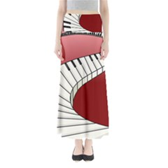 Piano Keys Music Maxi Skirts by Mariart