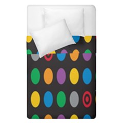Polka Dots Rainbow Circle Duvet Cover Double Side (single Size) by Mariart