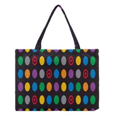 Polka Dots Rainbow Circle Medium Tote Bag by Mariart