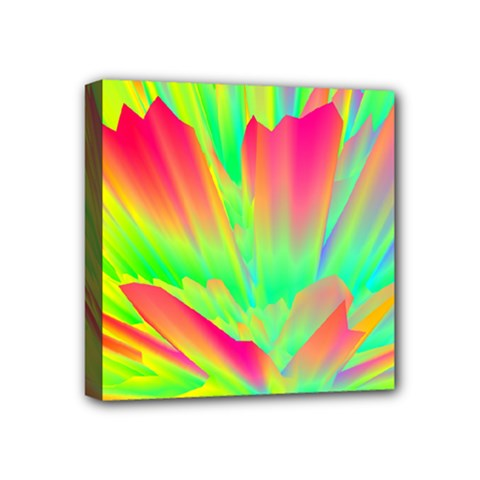 Screen Random Images Shadow Green Yellow Rainbow Light Mini Canvas 4  X 4  by Mariart