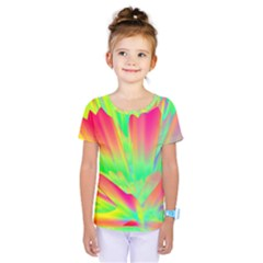 Screen Random Images Shadow Green Yellow Rainbow Light Kids  One Piece Tee by Mariart