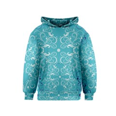 Repeatable Flower Leaf Blue Kids  Pullover Hoodie by Mariart