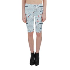 Ships Sails Cropped Leggings  by Mariart