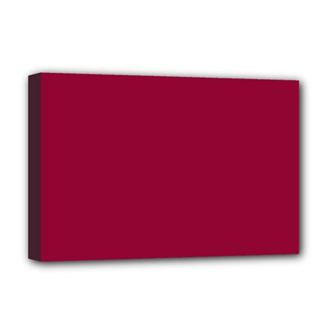 Burgundy Solid Color  Deluxe Canvas 18  X 12   by SimplyColor