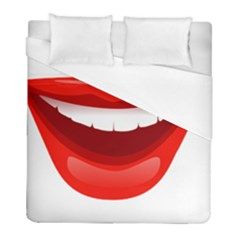 Smile Lips Transparent Red Sexy Duvet Cover (full/ Double Size) by Mariart