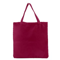 Burgundy Solid Color  Grocery Tote Bag by SimplyColor