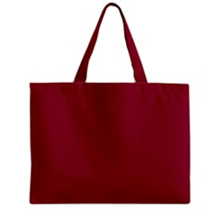 Burgundy Solid Color  Zipper Mini Tote Bag by SimplyColor