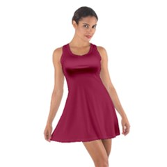 Burgundy Solid Color  Cotton Racerback Dress by SimplyColor