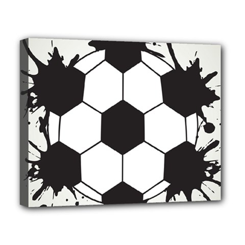 Soccer Camp Splat Ball Sport Deluxe Canvas 20  X 16   by Mariart