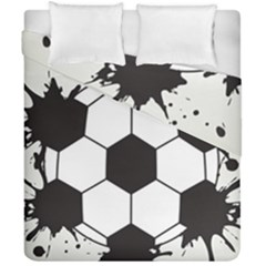 Soccer Camp Splat Ball Sport Duvet Cover Double Side (california King Size) by Mariart