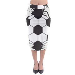 Soccer Camp Splat Ball Sport Midi Pencil Skirt by Mariart
