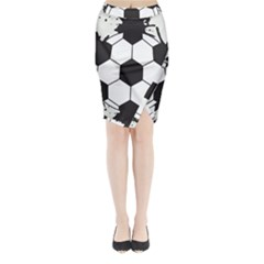 Soccer Camp Splat Ball Sport Midi Wrap Pencil Skirt by Mariart