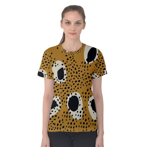 Surface Patterns Spot Polka Dots Black Women s Cotton Tee by Mariart