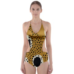 Surface Patterns Spot Polka Dots Black Cut Out One Piece Swimsuit by Mariart