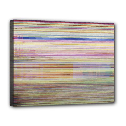 Shadow Faintly Faint Line Included Static Streaks And Blotches Color Canvas 14  X 11  by Mariart