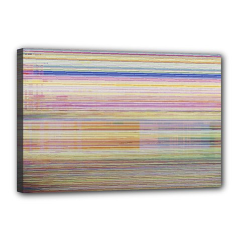 Shadow Faintly Faint Line Included Static Streaks And Blotches Color Canvas 18  X 12  by Mariart