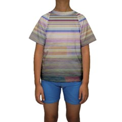 Shadow Faintly Faint Line Included Static Streaks And Blotches Color Kids  Short Sleeve Swimwear by Mariart