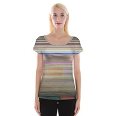Shadow Faintly Faint Line Included Static Streaks And Blotches Color Cap Sleeve Tops