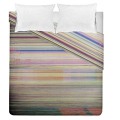 Shadow Faintly Faint Line Included Static Streaks And Blotches Color Duvet Cover Double Side (queen Size) by Mariart