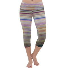 Shadow Faintly Faint Line Included Static Streaks And Blotches Color Capri Yoga Leggings by Mariart
