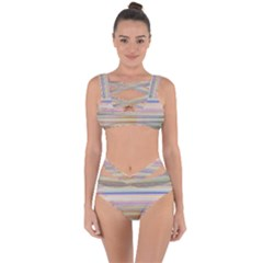 Shadow Faintly Faint Line Included Static Streaks And Blotches Color Bandaged Up Bikini Set  by Mariart