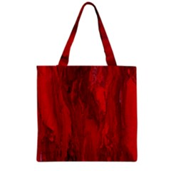 Stone Red Volcano Grocery Tote Bag by Mariart