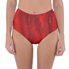 Stone Red Volcano Reversible High-waist Bikini Bottoms by Mariart