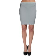 Ash Gray Solid Color  Bodycon Skirt by SimplyColor