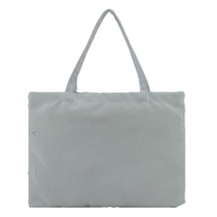 Ash Gray Solid Color  Medium Tote Bag by SimplyColor