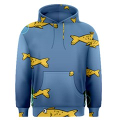 Water Bubbles Fish Seaworld Blue Men s Pullover Hoodie by Mariart