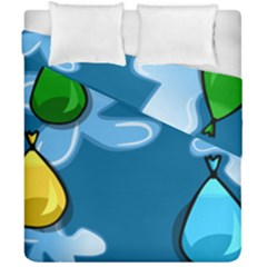 Water Balloon Blue Red Green Yellow Spot Duvet Cover Double Side (california King Size) by Mariart