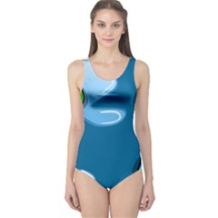 Water Balloon Blue Red Green Yellow Spot One Piece Swimsuit by Mariart