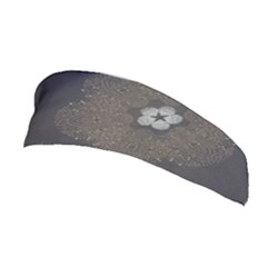 Walls Medallion Floral Grey Polka Stretchable Headband by Mariart