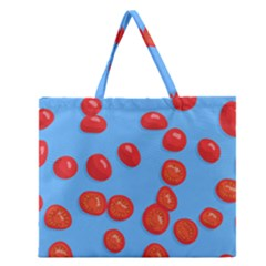 Tomatoes Fruite Slice Red Zipper Large Tote Bag by Mariart