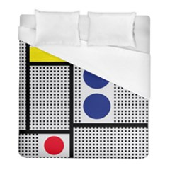 Watermark Circle Polka Dots Black Red Yellow Plaid Duvet Cover (full/ Double Size) by Mariart